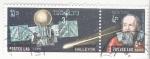 Sellos de Asia - Laos -  aeronautica- cometa Halley