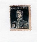 Stamps Argentina -  EFIGIE GRAL JOSE DE SAN MARTIN