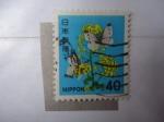 Stamps Japan -  Flora - Nippon (Scott/1416)