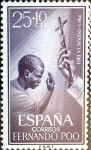 Stamps Spain -  Intercambio crxf2 0,30 usd 25+10 cent. 1961