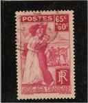Stamps France -  aide aux francais repatries d´espagne