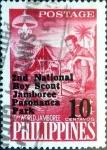 Stamps Philippines -  Intercambio 0,20 usd 10c.s.6+4c. 1961