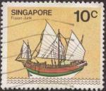 Stamps Asia - Singapore -  Fujian Junk