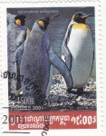 Stamps Cambodia -  pingüinos