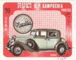 Sellos de Asia - Camboya -  coche de epoca- Franklin