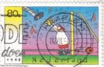 Sellos de Europa - Holanda -  dibujo cómico futbol