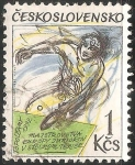 Stamps Czechoslovakia -  Junior European Table Tennis Championship-Campeonato de Europa de Tenis de Mesa