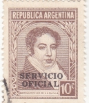 Stamps Argentina -  Bernardino Rivadavia