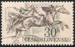 Sellos de Europa - Checoslovaquia -  Corrida de caballos
