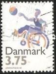 Sellos de Europa - Dinamarca -  Baloncesto-dicapacitados silla de ruedas