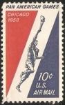 Sellos de America - Estados Unidos -  Juegos Panamericanos de 1959