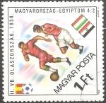 Sellos de Europa - Hungría -  Copa Mundial de Fútbol de 1934