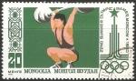Sellos de Asia - Mongolia -  Juegos Olímpicos de Moscú 1980