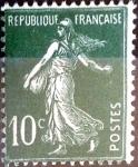 Sellos de Europa - Francia -  Intercambio 1,00 usd 10 cent. 1921