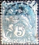 Stamps France -  Intercambio 0,35 usd 5 cent. 1900