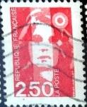 Sellos de Europa - Francia -  Intercambio 0,20 usd 2,50 fr. 1990