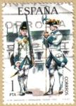 Sellos de Europa - España -  UNIFORMES - Sargento y Granadero Toledo 1750