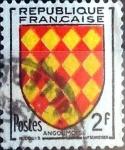 Sellos de Europa - Francia -  Intercambio 0,40 usd 2 fr. 1954