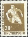 Sellos de Europa - Hungría -  Campeonato de Europa de Tenis de Mesa