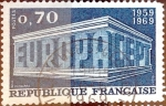 Stamps : Europe : France :  Intercambio jcs 0,25 usd 0,70 fr. 1969
