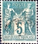 Sellos de Europa - Francia -  Intercambio 1,25 usd 5 cent. 1898
