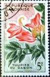 Stamps : Africa : Gabon :  Intercambio 0,60 usd 5 fr. 1961