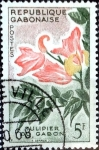 Stamps : Africa : Gabon :  Intercambio 0,60 usd 5 fr. 1961
