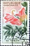 Stamps : Africa : Gabon :  Intercambio nfxb 0,60 usd 5 fr. 1961