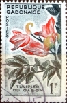 Stamps : Africa : Gabon :  Intercambio 0,20 usd 1 fr. 1961