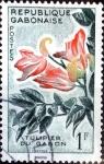 Stamps : Africa : Gabon :  Intercambio m1b 0,20 usd 1 fr. 1961