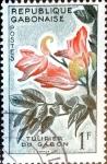 sello : Africa : Gabón : Intercambio 0,20 usd 1 fr. 1961