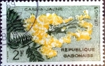 Stamps : Africa : Gabon :  Intercambio m1b 0,20 usd 2 fr. 1961