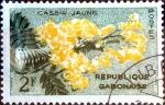Stamps : Africa : Gabon :  Intercambio nfb 0,20 usd 2 fr. 1961