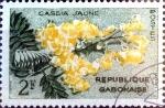 Stamps : Africa : Gabon :  Intercambio dm1g2 0,20 usd 2 fr. 1961