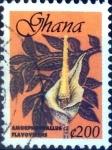 sello : Africa : Gabón : Intercambio 0,20 usd 200 cedi 1999