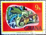 Stamps : Africa : Gabon :  Intercambio 0,20 usd 9 np. 1967