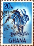 Stamps : Africa : Gabon :  Intercambio 0,20 usd 20 np. 1967