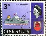 Stamps : Europe : Gibraltar :  Intercambio nfxb 0,20 usd 3 p. 1967