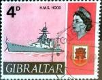 Stamps : Europe : Gibraltar :  Intercambio crxf2 0,20 usd 4 p. 1967
