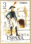 Sellos del Mundo : Europa : España : UNIFORMES - Coronel de Infanteria 1802