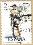 Sellos del Mundo : Europa : España : UNIFORMES - Fusilero Regimiento Asturias 1789