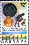 Stamps : America : Grenada :  1/2 cent. 1976