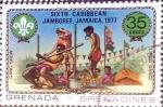 Sellos de America - Granada -  Intercambio nfxb 0,20 usd 35 cent. 1977