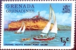 Stamps : America : Grenada :  Intercambio 0,20 usd 1/2 cent. 1975