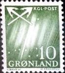 Stamps : Europe : Greenland :  Intercambio crxf 0,40 usd 10 ore 1963
