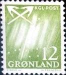 Stamps : Europe : Greenland :  Intercambio crxf 0,30 usd 12 ore 1963