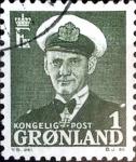 Stamps : Europe : Greenland :  Intercambio jxa 0,20 usd 1 ore 1960