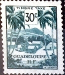 Stamps : America : Guadeloupe :  Intercambio 0,30 usd 30 cent. 1947