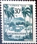 Stamps : America : Guadeloupe :  Intercambio crxf 0,30 usd 30 cent. 1947