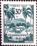 Sellos del Mundo : America : Guadeloupe : Intercambio crf 0,30 usd 30 cent. 1947